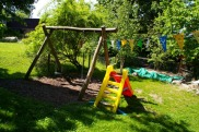 Spielfläche im Garten